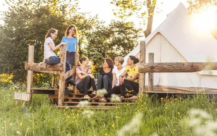 Hen Weekends Ideas - Girls chatting on steps