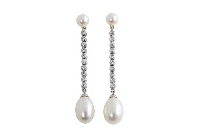 Duchess Diamond & Pearl Earrings