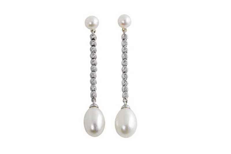 Duchess Diamond & Pearl Earrings