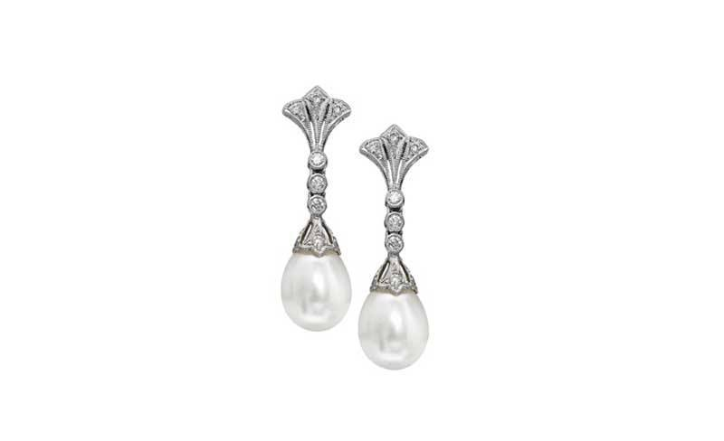 Duchess Diamond and Pearl Earrings
