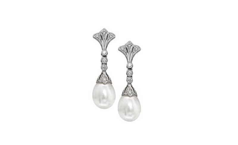 Duchess Diamond and Pearl Earrings