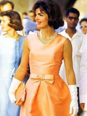 Jackie Kennedy Wearing Oscar de le renta