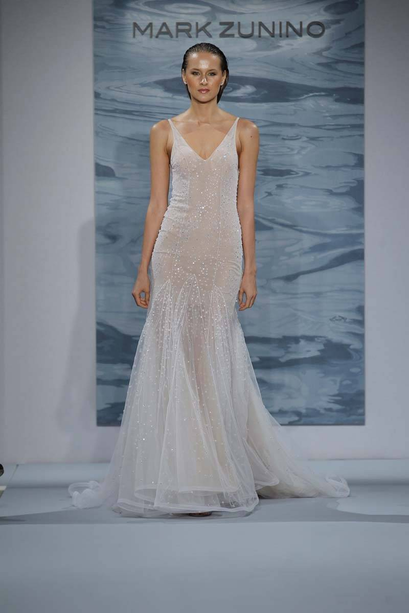 6e536ab1d2c3 Blush Wedding Dress Mark Zunino 2016 - Image Wedding Dress Imagemax.co