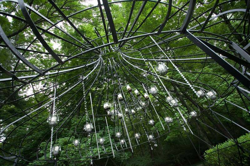 Wedding hanging garden lights