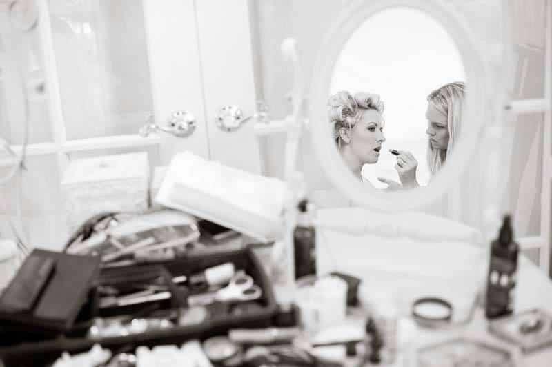 Bride Putting Makeup On