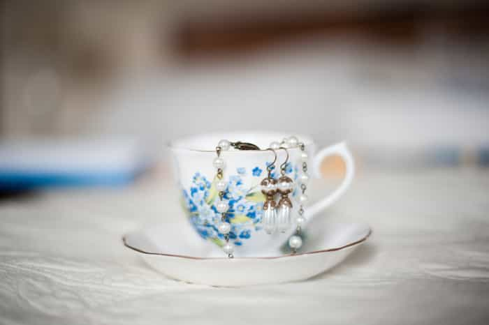 vintage cup for weddings