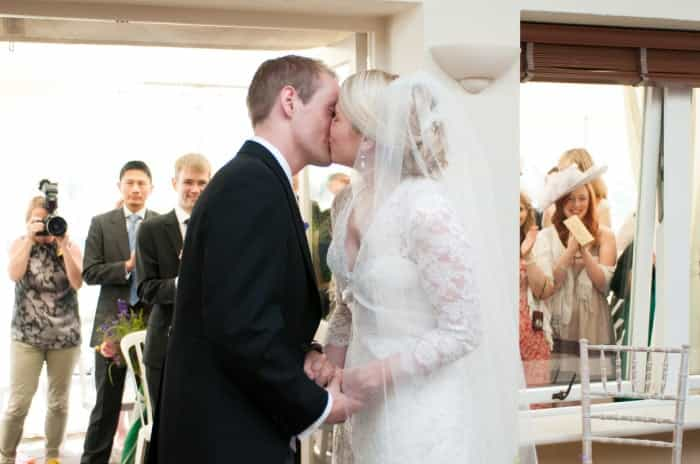 Real Wedding blog - The First Kiss