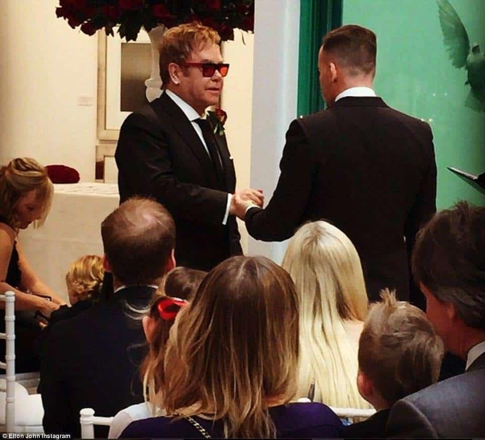 Sir Elton John And David Furnish Wedding Day
