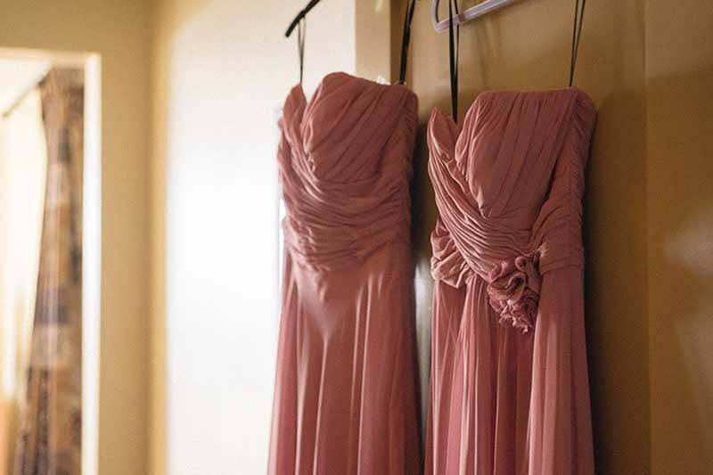 Dusky Pink Bridemaids Dress