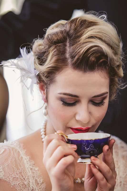 Bride With Vintage Tea Cup