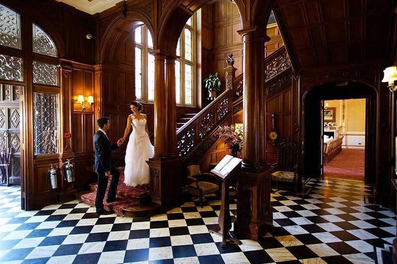 Bride and Groom in reception
