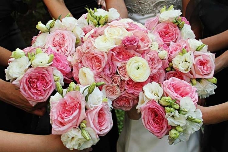 Pink Wedding Roses