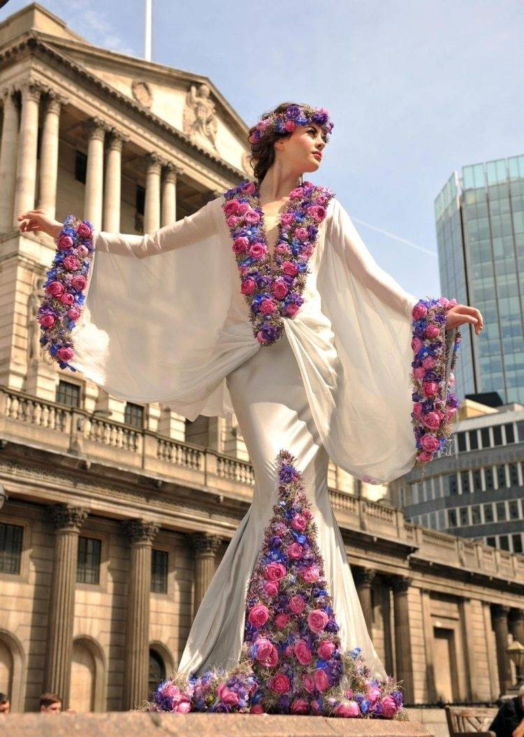 Incredible Flower Dress Larry Walshe