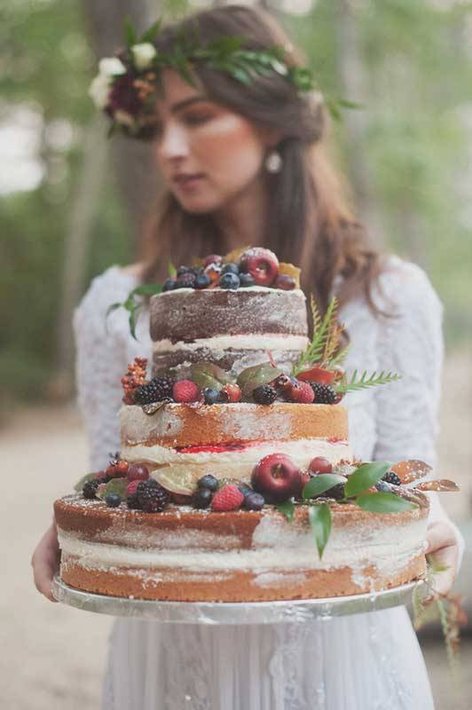 Bride with Wedding cake