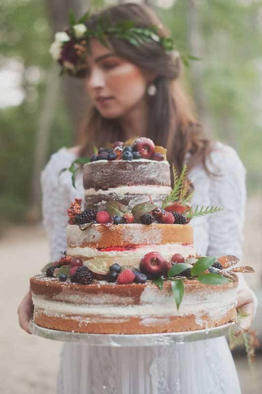 Bride with Wedding cake
