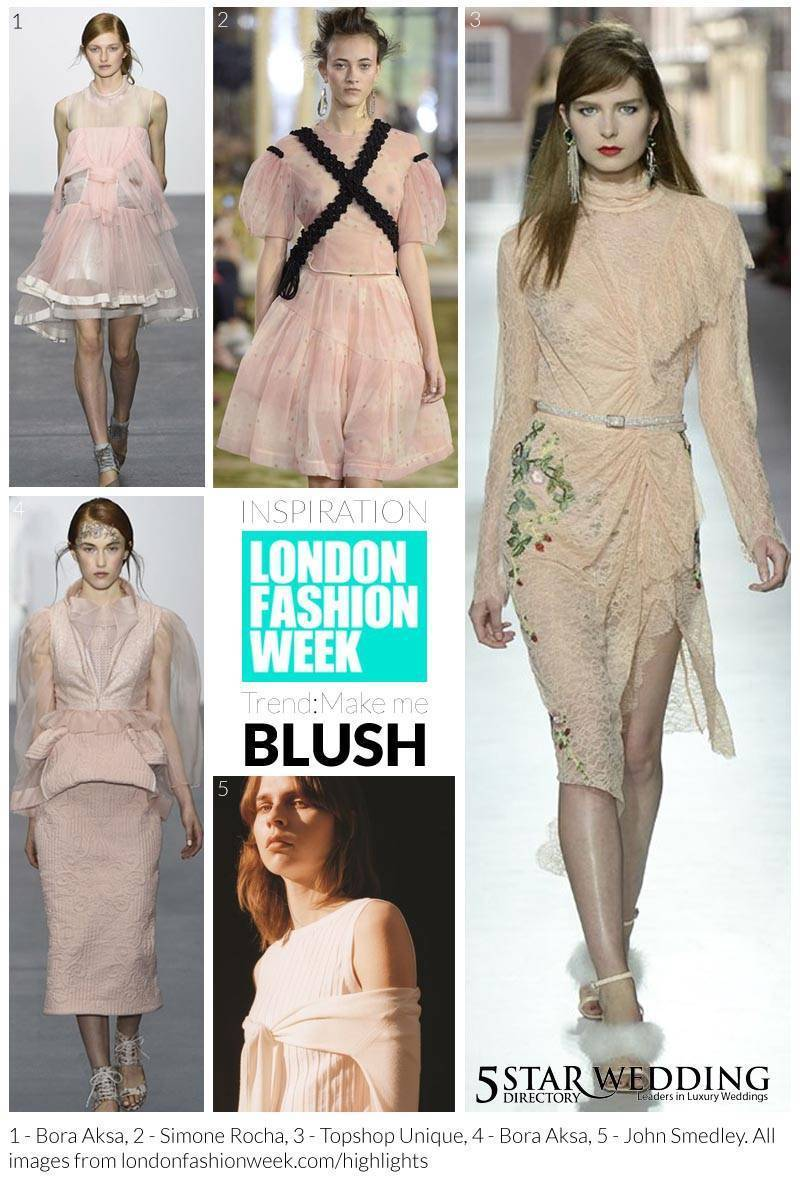Blush moodboard - London Fashion Week Bridal Inspiration