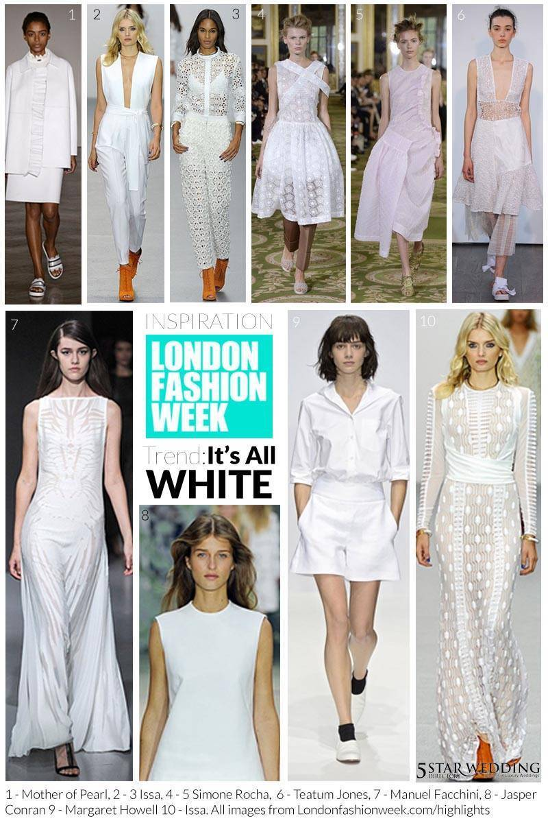 White moodboard 1 - London Fashion Week Bridal Inspiration