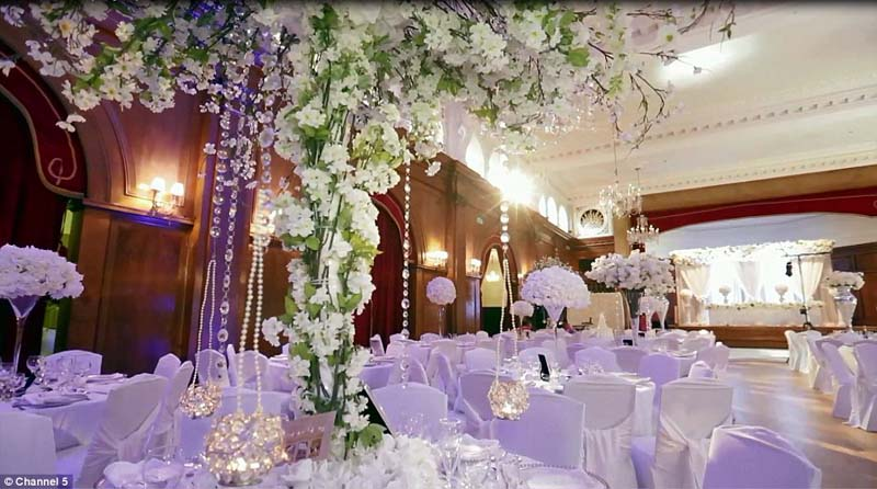 A wedding breakfast suite at the Dorchester, popular with couples from Nigeria