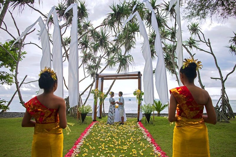 Traditional Balinese wedding ceremony