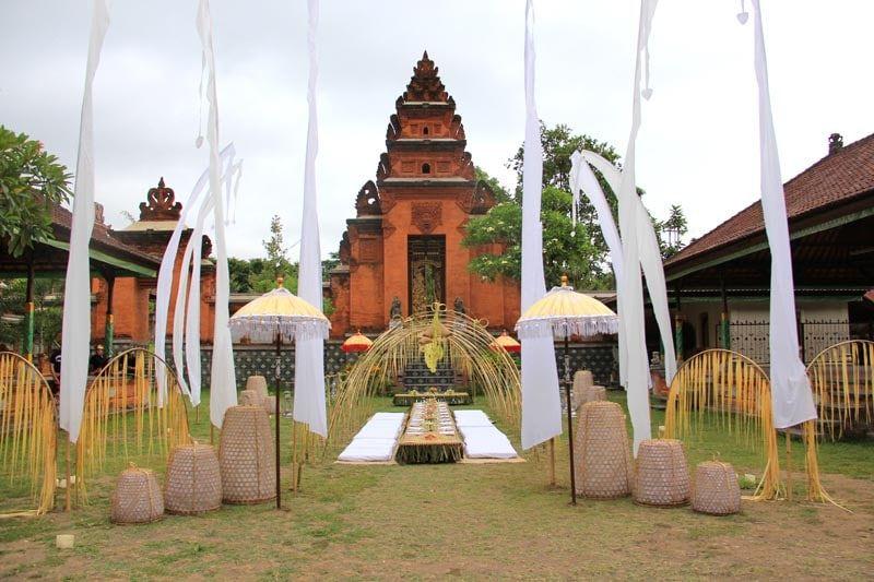 Wedding at Puri Gede Bali. The Karangasem Royal Palace and courtyard