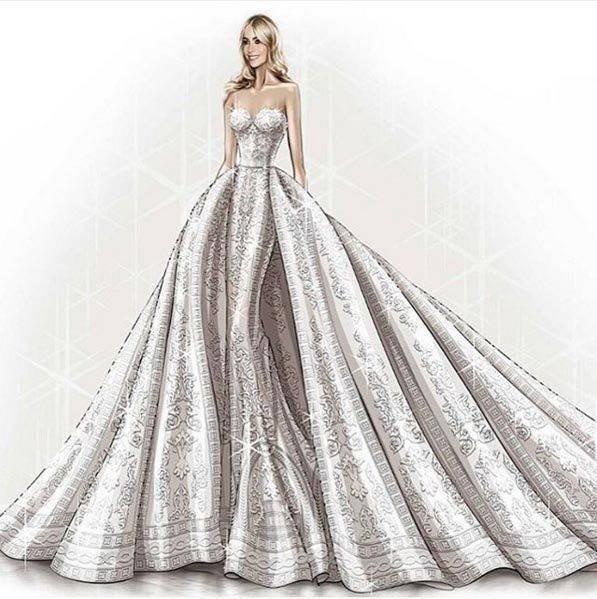 Murad's design for Sofia's dress, Instagram.