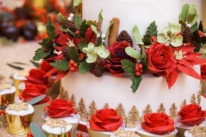 Luxury Wedding Christmas Cake