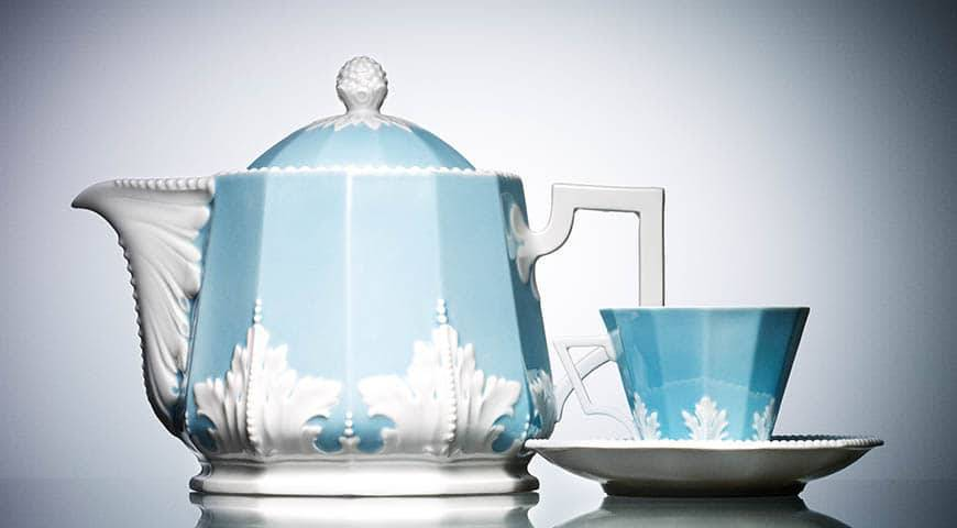 Floral Teapot and Cup