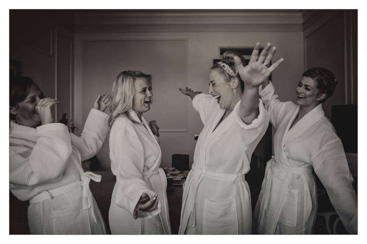 Bridesmaids Getting Ready In Italy
