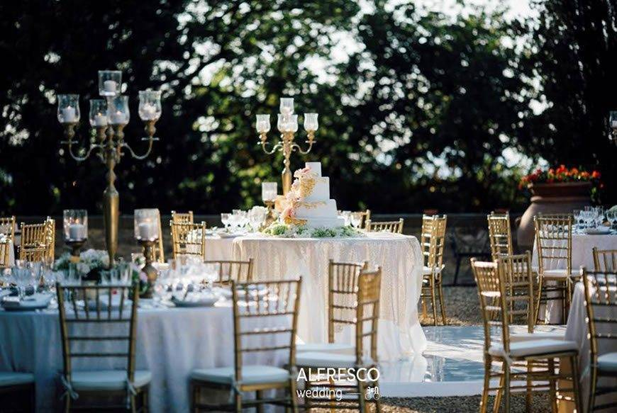 Gold and Pink Wedding Italy