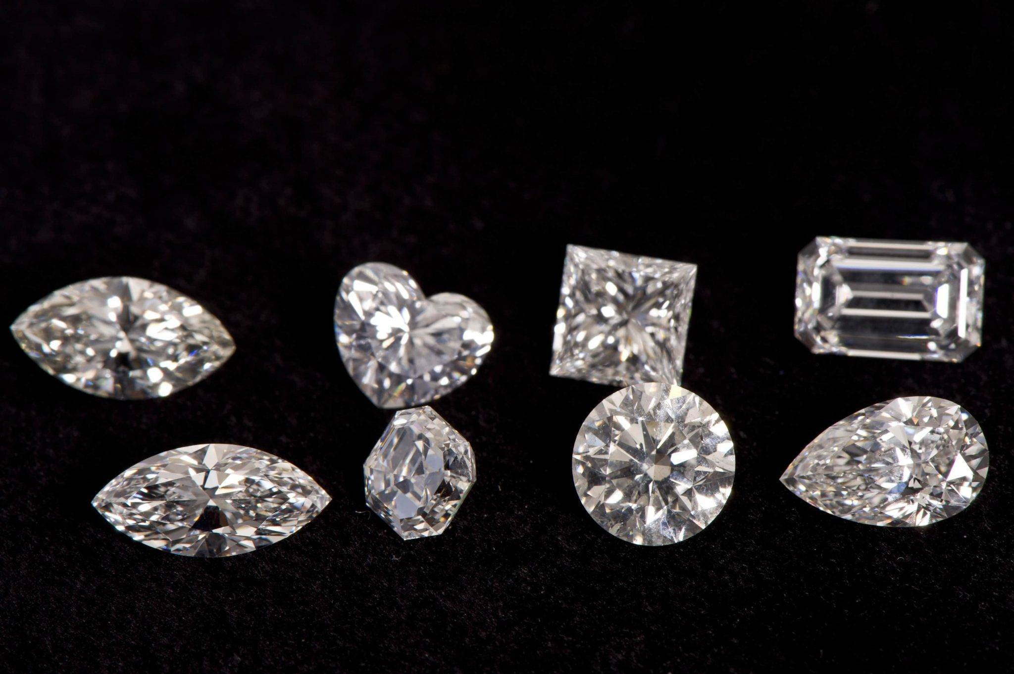 a cluster of diamonds