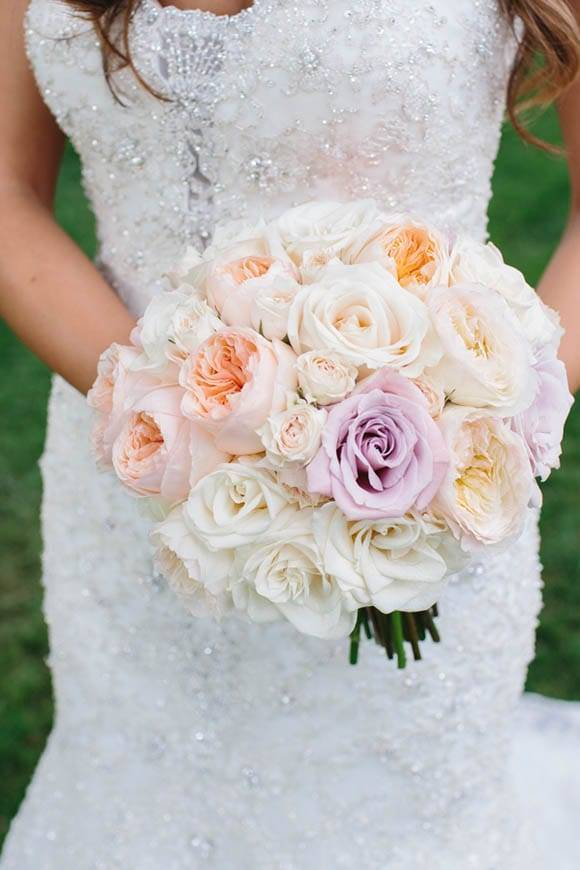 Pink Peach Wedding Bouquet