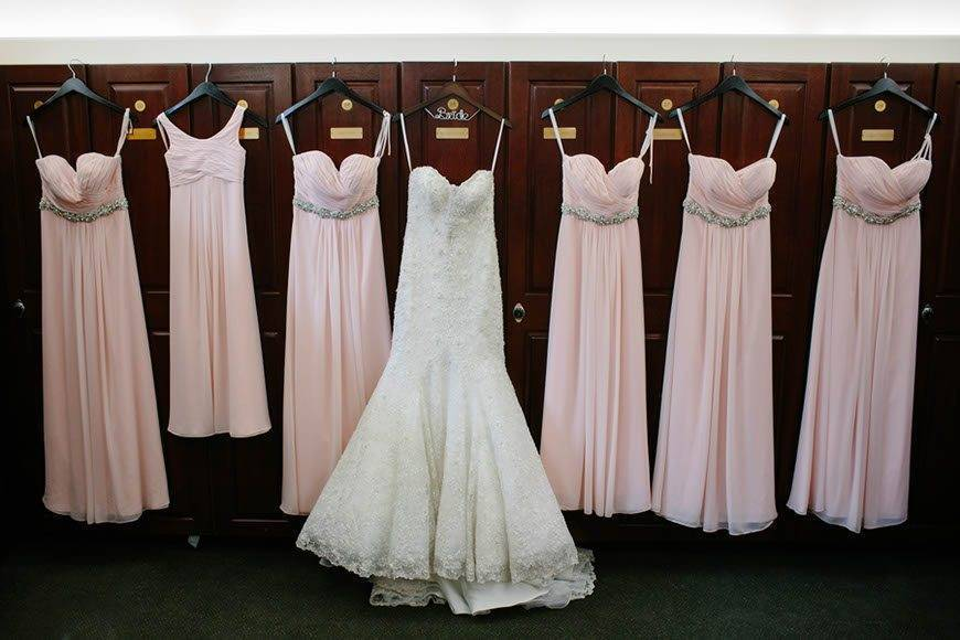 Pink Bridemaid Dresses