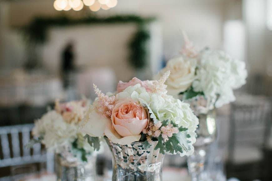 Peach Wedding Table Styling