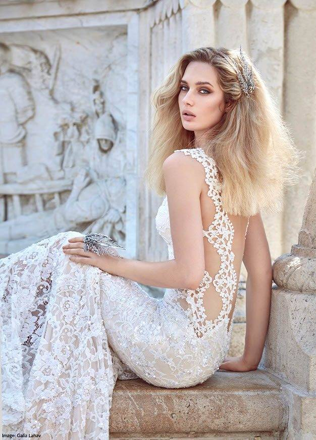Galia Lahav Aurora Backless Dress