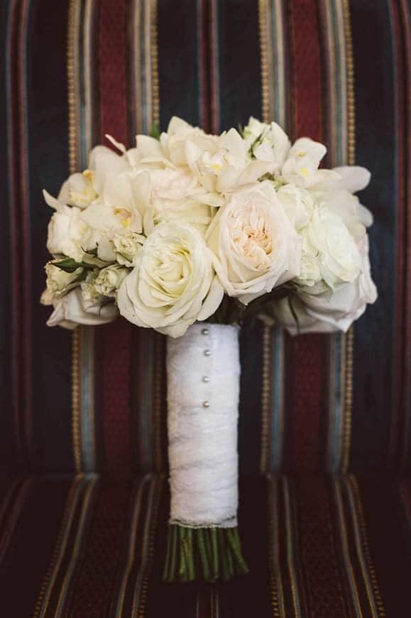 Cream Rose Wedding Bouquet
