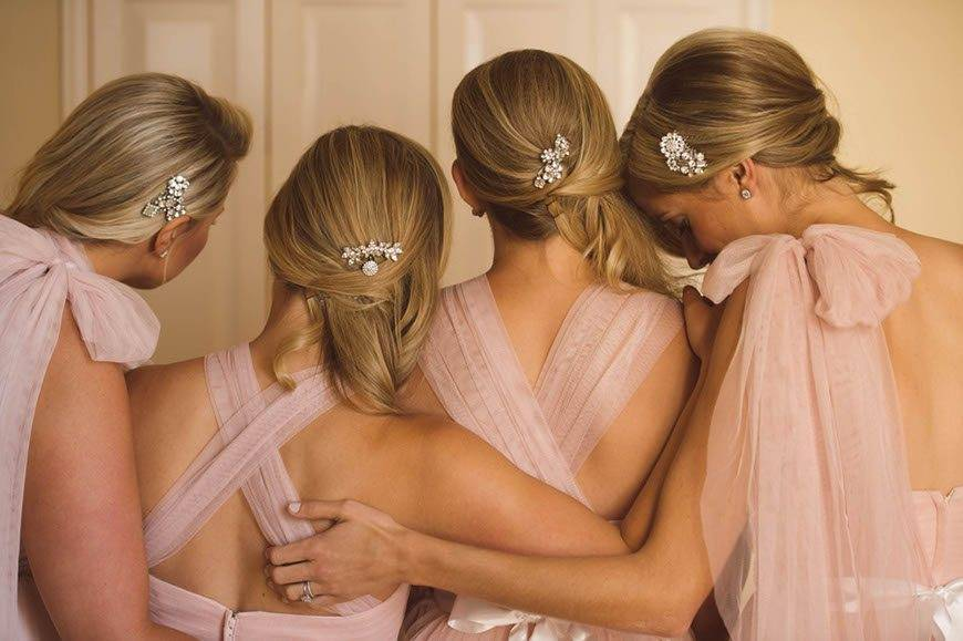 Bridesmaids In Blush Pink