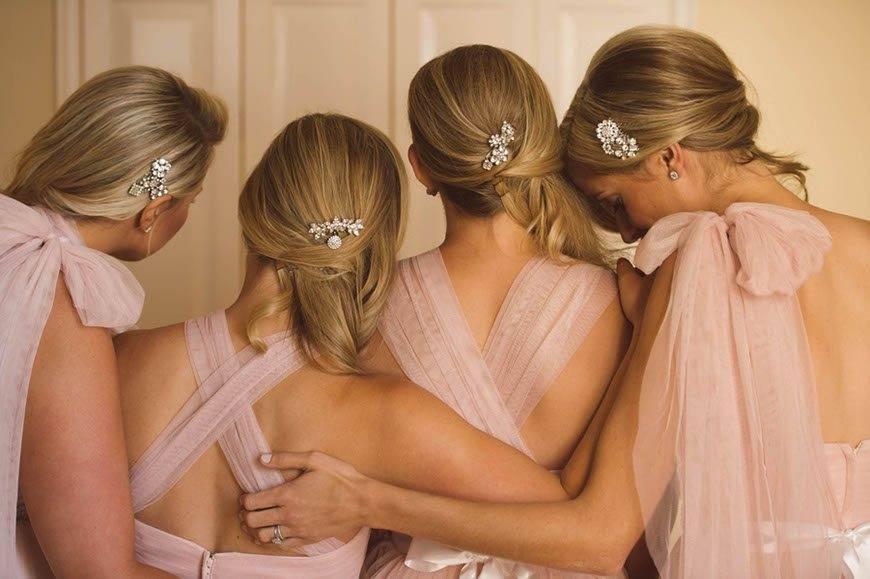 Bridesmaids In Blush Pink