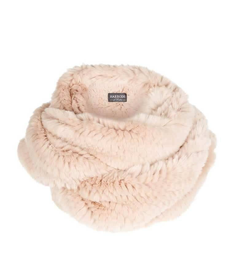 Large fur snood from Harrods