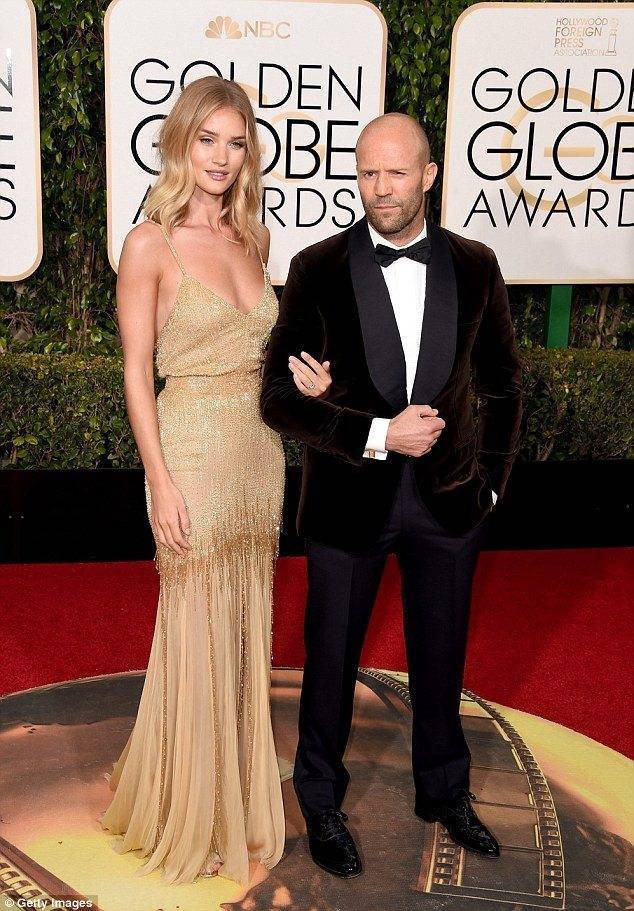 Rosie Huntington Whitely Jason Statham engaged