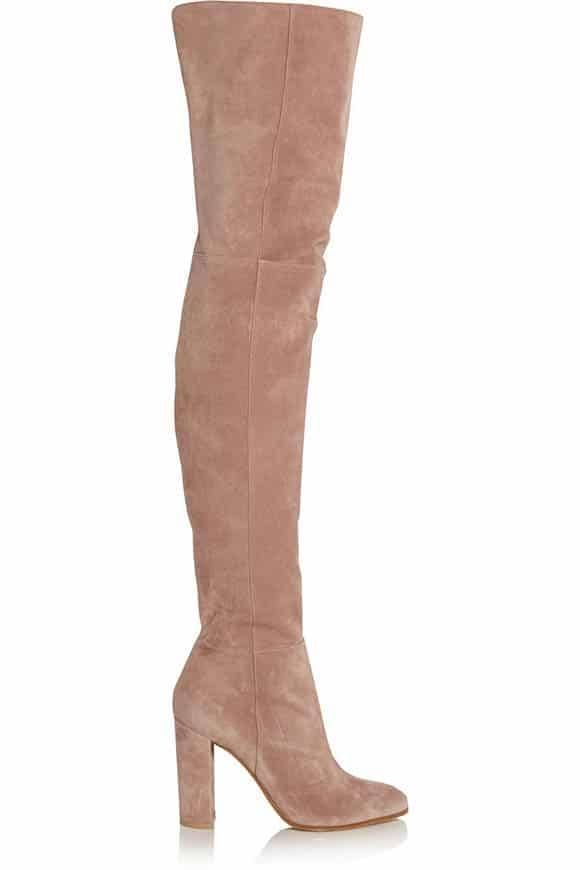 Suede over the knees boots from Gianvito Rossi