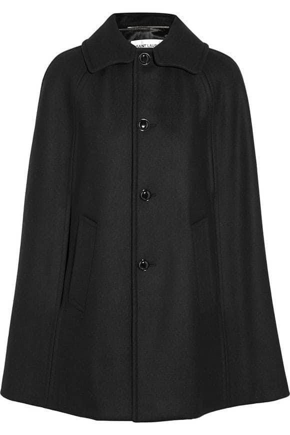 wool felt cape from Saint Laurent