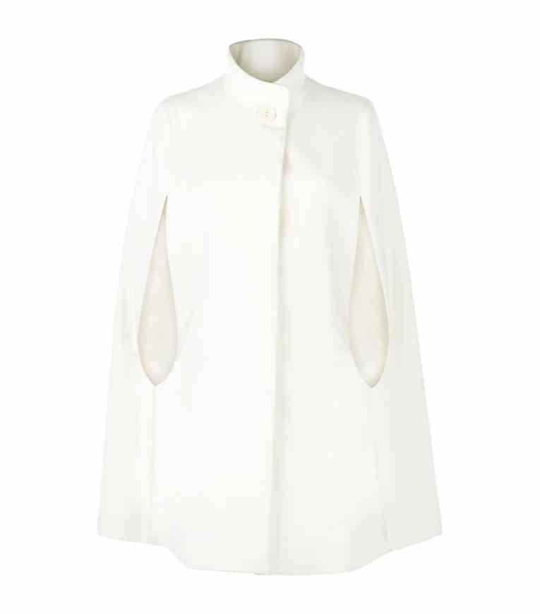 wool Angora stand collar cape from Harrods