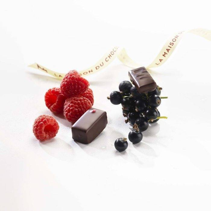 Chocolate with berries