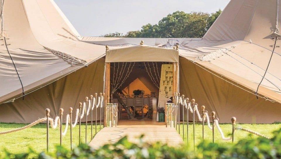 Wedding Tipi Entrance