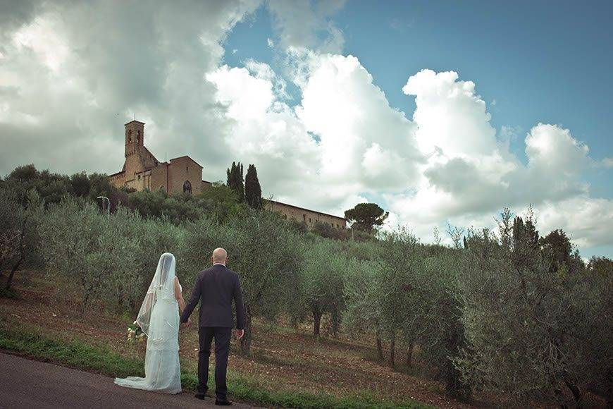 Bride and Groom Tuscany