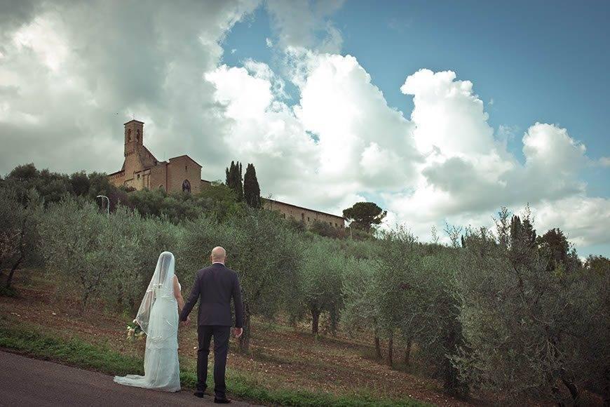 Bride and Groom Tuscany