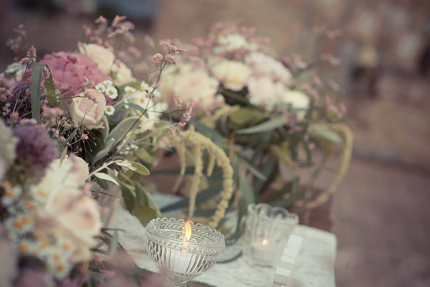Vintage Wedding Flowers Tuscany