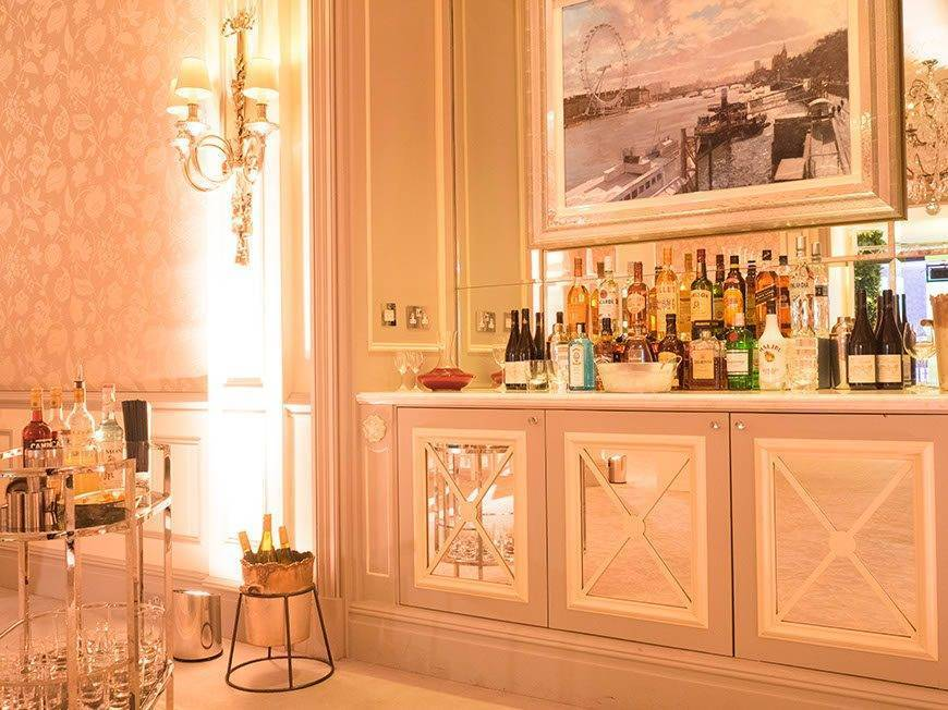 The bar At Home with Bruce Russell at The Savoy