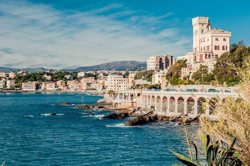 View of Genoa, port city in northern Italy - Destination Weddings in Italy