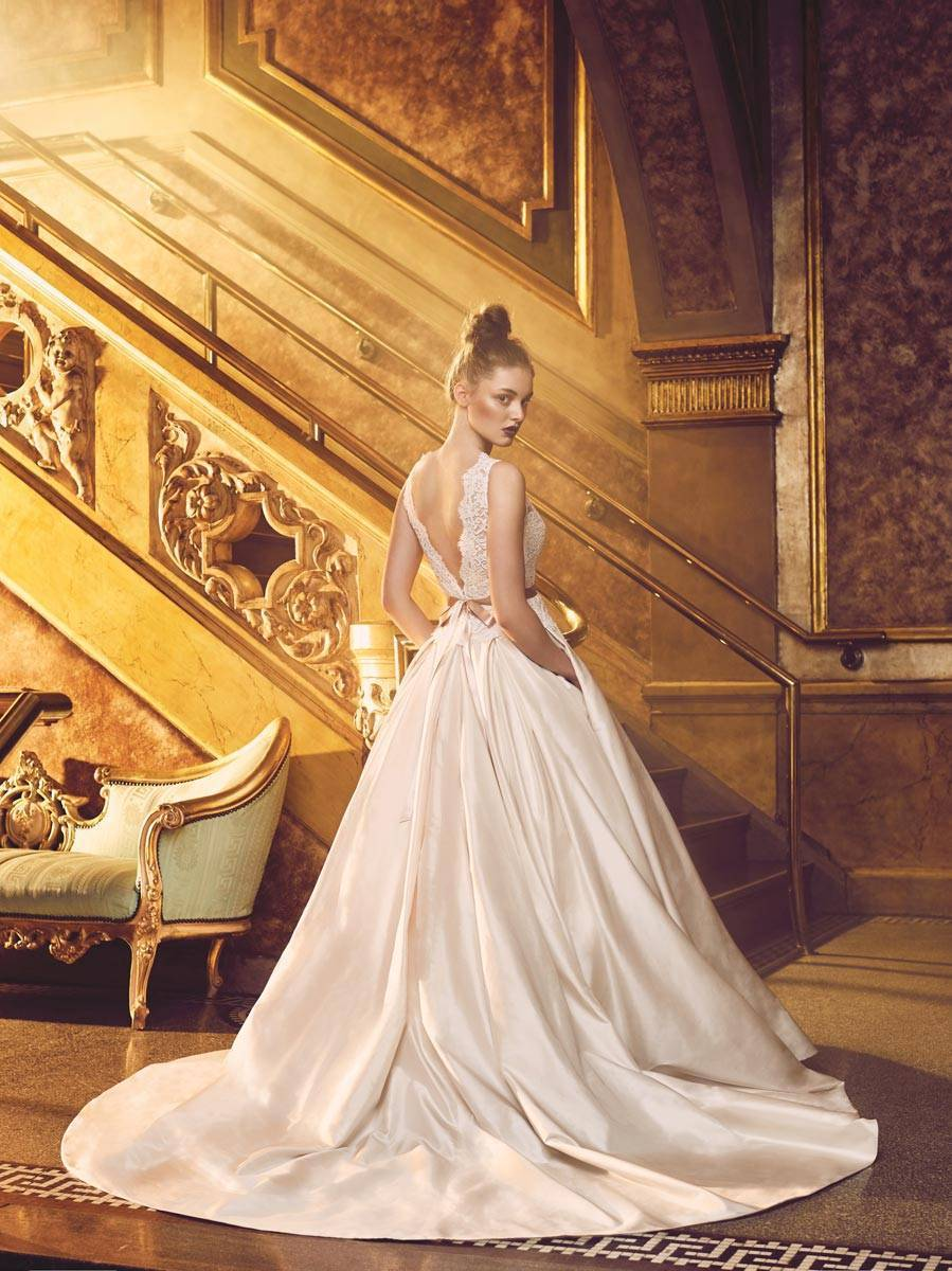 High end wedding dresses nyc : Paloma blanca and mikaella bridal luxurious collections